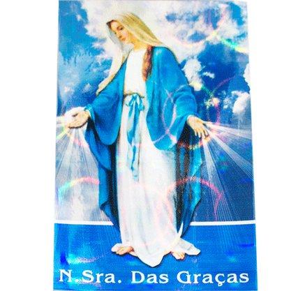 Adesivo Pequeno Quadrado Nossa Senhora das Graças - Contém 6 Unidades