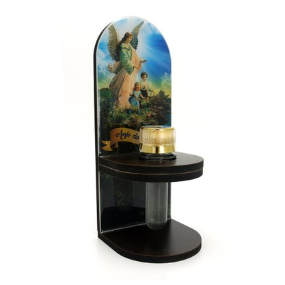 Adorno Porta Água Benta Anjo da Guarda - 20cm