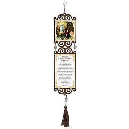 Adorno de Porta Nossa Senhora de Lourdes Quadrado Duplo