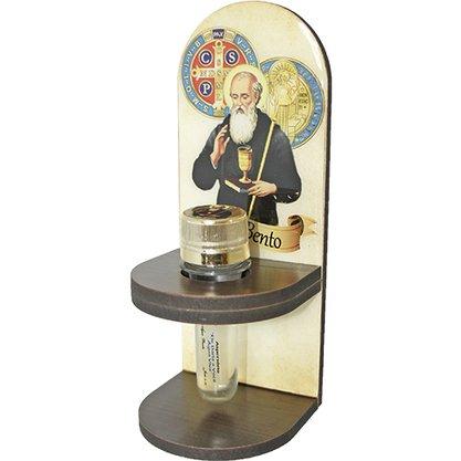 Adorno Porta Água Benta São Bento 20 x 8 cm