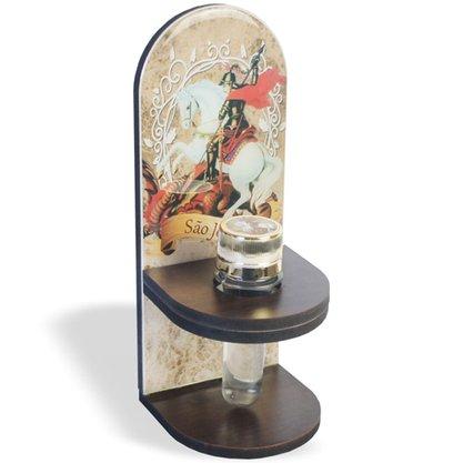 Adorno Porta Água Benta São Jorge 20 x 8 cm