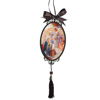 Adorno Oval de Porta Arcanjo São Gabriel 30 x 10 cm