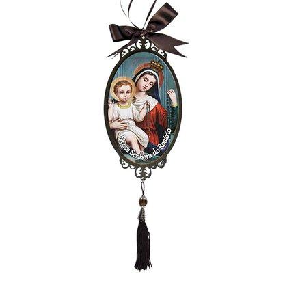Adorno Oval de Porta Nossa Senhora do Rosário 30 x 10 cm