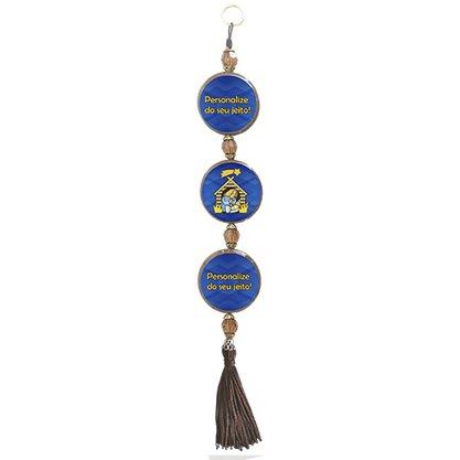 Adorno Porta Personalizado 3 medalhas Redondas Pequena