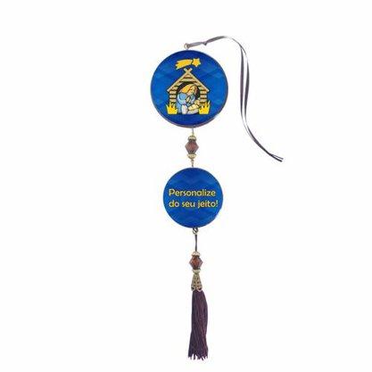 Adorno Porta Personalizado Duas Medalhas Redondas - Preço de 12 unidades