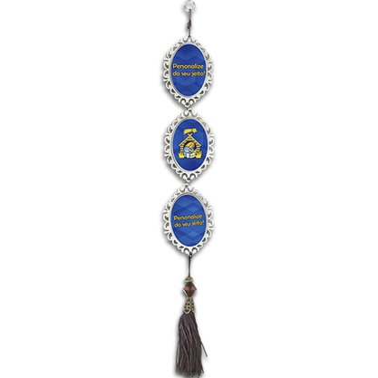 Adorno Porta Personalizado Mandala P 3 Medalha Madeira Oval 12 unidades