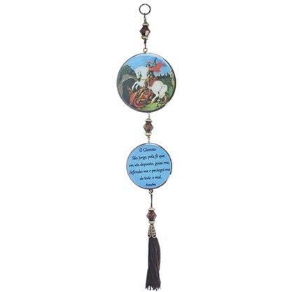 Adorno Redondo de Porta São Jorge - 2 Medalhas - 30cm
