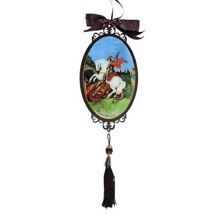 Adorno Oval de Porta São Jorge 30 x 10 cm
