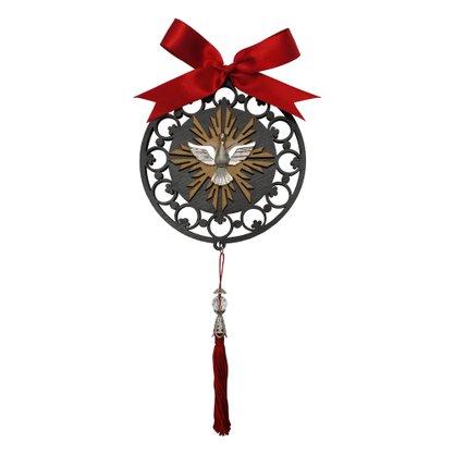 Adorno Redondo Mandala Divino Espírito Santo - 12cm