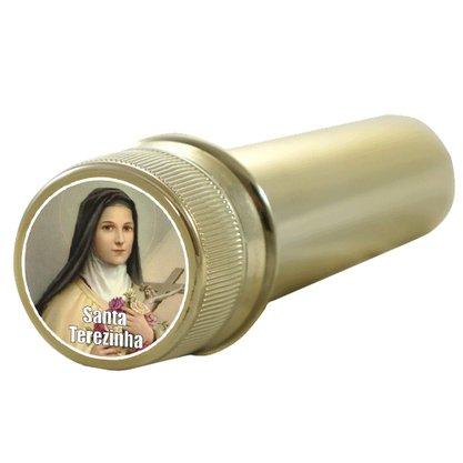 Aspersório Santa Terezinha em Acrílico Dourado - 14cm