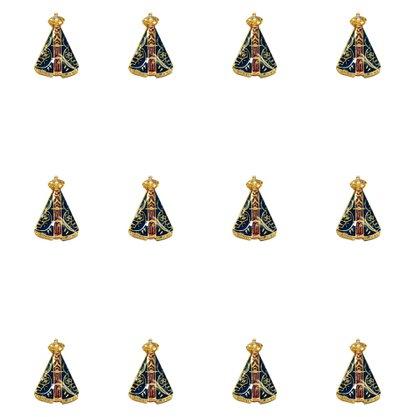 Boton Nossa Senhora Aparecida - M - Contém 12 Unidades