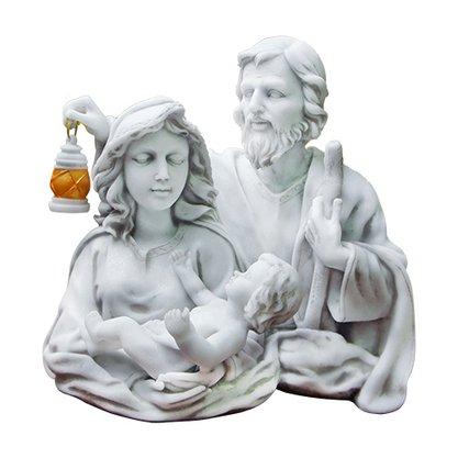 Imagem Busto Sagrada Família em Mármore 24cm