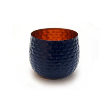 Cachepô em Metal Azul 7 cm