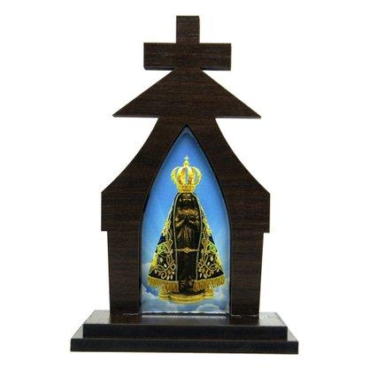 Capela em MDF Nossa Senhora Aparecida - 18cm