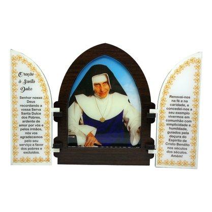 Capela em MDF Resinada Santa Dulce dos Pobres com Portas 18 cm