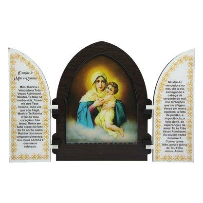 Capela em MDF Resinado Mãe Rainha com Portas 18cm