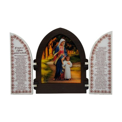 Capela em MDF Resinado Maria Passa na Frente com Portas 18 cm