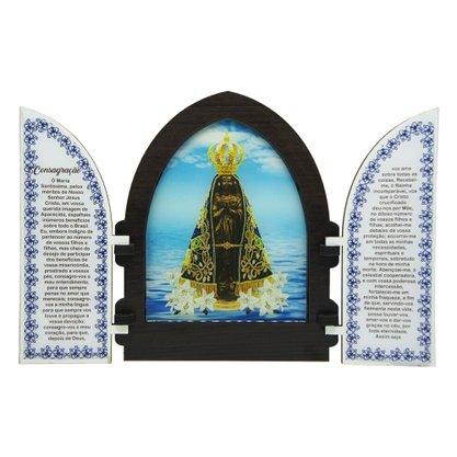 Capela em MDF Resinado Nossa Senhora Aparecida com Portas 18 cm