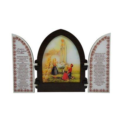 Capela em MDF Resinado Nossa Senhora de Fátima com Portas 18 cm