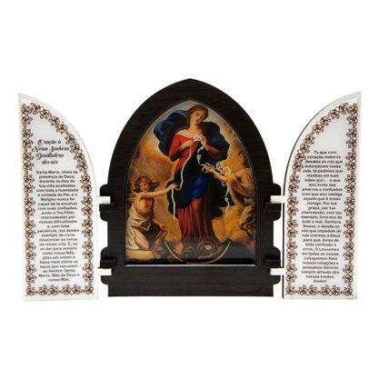 Capela em MDF Resinado Nossa Senhora Desatadora dos Nós com Portas 18 cm