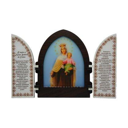 Capela em MDF Resinado Nossa Senhora do Carmo com Portas 18 cm