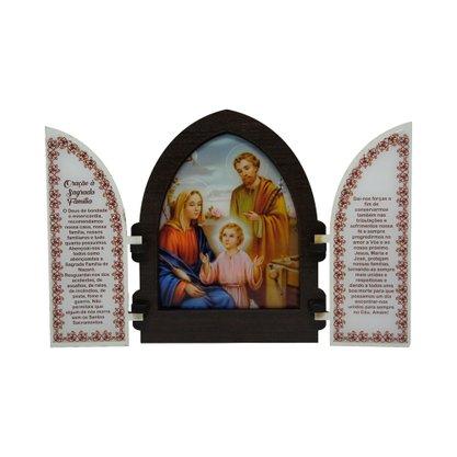 Capela em MDF Resinado Sagrada Família com Portas 18 cm