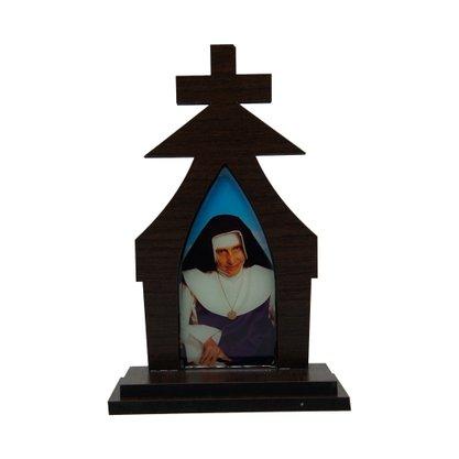 Capela em MDF Resinado Santa Dulce dos Pobres 18 cm