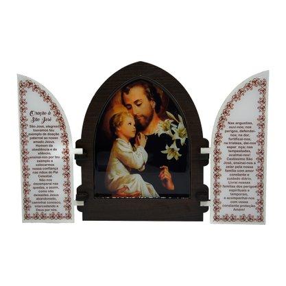 Capela em MDF Resinado São José com Portas 18 cm