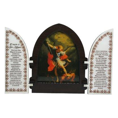Capela em MDF Resinado São Miguel Arcanjo com Portas - 18cm