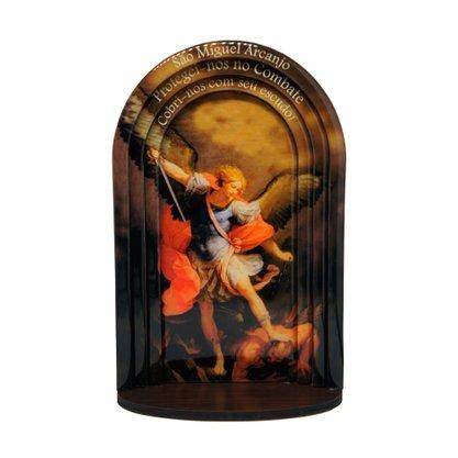 Capela em MDF Resinado São Miguel Arcanjo Moldura Modelo 3D 24 cm