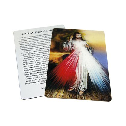 Cards Holográficos Jesus Misericordioso Preço da dúzia