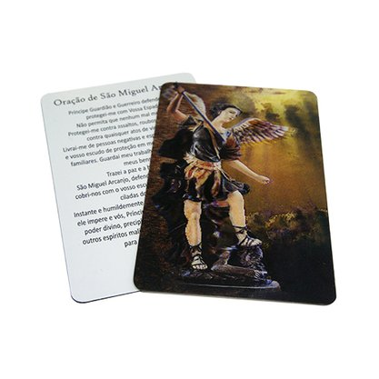 Cards Holográficos São Miguel Arcanjo Preço da dúzia