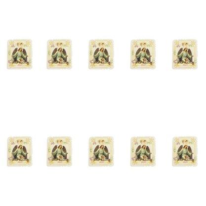 Cartao Cheguei Nascimento Lembrança com 10 unidades