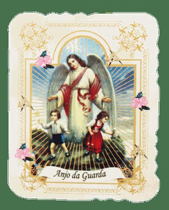 Cartão com Medalha Anjo da Guarda com 10 unidades