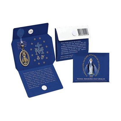 Cartão Medalha Botão Milagrosa Nossa Senhora das Graças