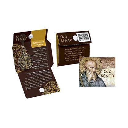 Cartão Medalha Botão Ouro Velho São Bento