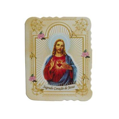 Cartão Sagrado Coração de Jesus com 10 unidades