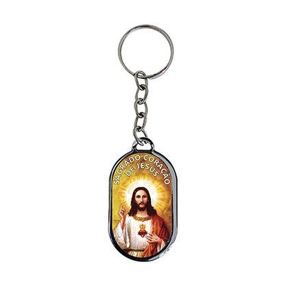 Chaveiro Chapa Sagrado Coração de Jesus - Dúzia