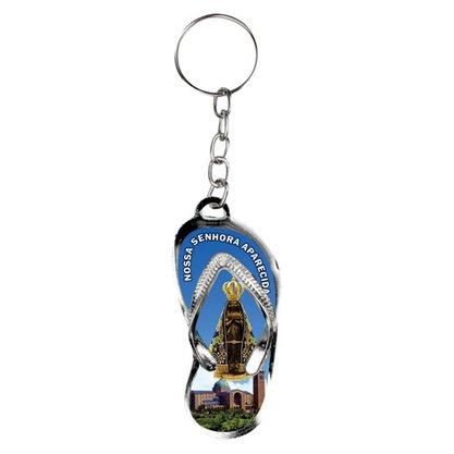 Chaveiro Chinelo Nossa Senhora Aparecida - Basílica - Dúzia