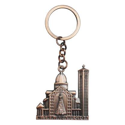 Chaveiro Nossa Senhora Aparecida Basílica em Bronze