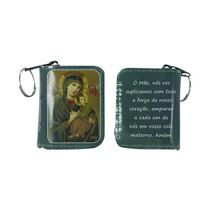 Chaveiro Preciosas Promessas Nossa Senhora do Perpétuo Socorro Médio