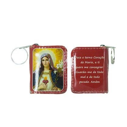 Chaveiro Preciosas Promessas Sagrado Coração de Maria Médio