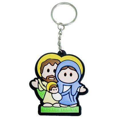Chaveiro Emborrachado Sagrada Família - Dúzia