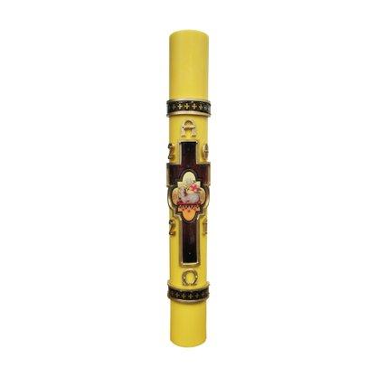 Círio Pascal Amarelo Agnus Dei 90 cm x 9 cm - 2021