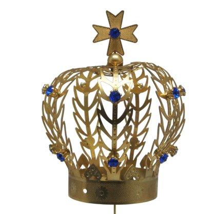 Coroa Dourada para Imagem de Nossa Senhora 15cm