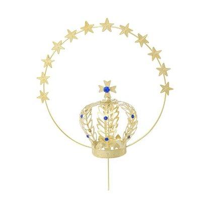 Coroa Dourada 8cm com Resplendor para Imagem de Nossa Senhora
