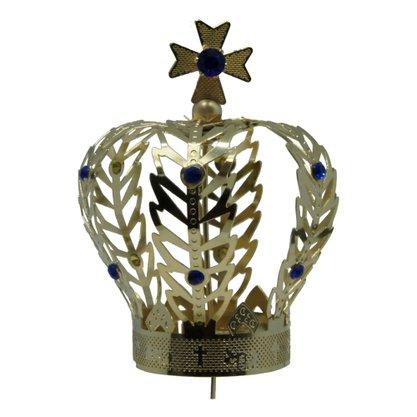 Coroa Dourada para Imagem de Nossa Senhora 8 cm