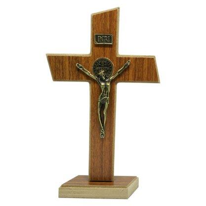 Crucifixo de Parede/Mesa Mdf em Athenas 22 cm