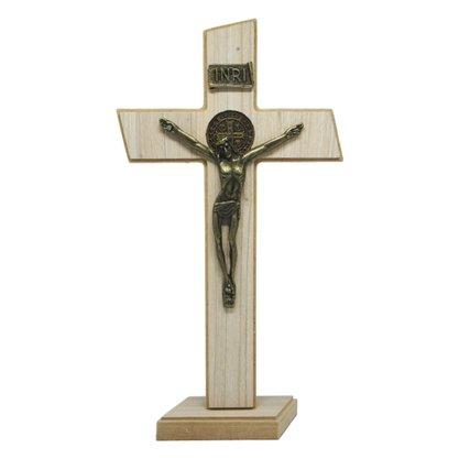 Crucifixo de Parede/Mesa Mdf em Tirol 27 cm