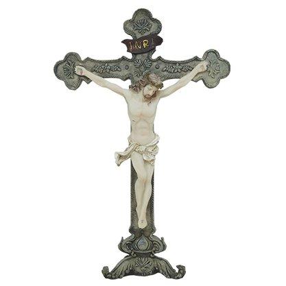 Imagem Crucifixo de Mesa Resina Importada - 25cm